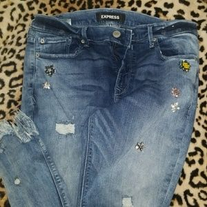 Express jeweled jeans